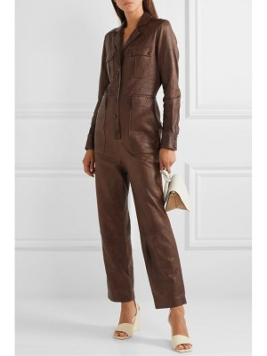 Veronica Beard artemis leather jumpsuit