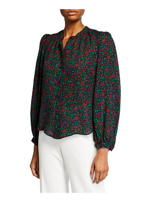 Veronica Beard Ashlynn Button-Down Blouse