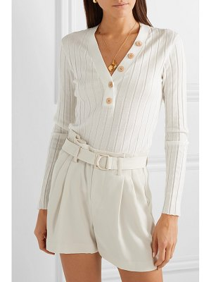 Veronica Beard beaumont ribbed cotton sweater