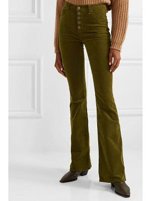 Veronica Beard beverly stretch-cotton corduroy flared pants