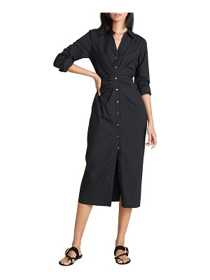 Veronica Beard Cita Ruched Shirtdress