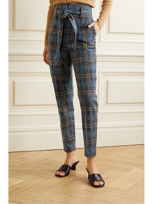 Veronica Beard clerence checked woven slim-leg pants