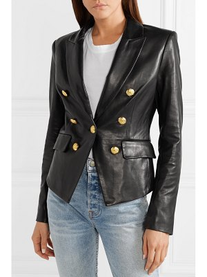 Veronica Beard cooke double-breasted leather blazer