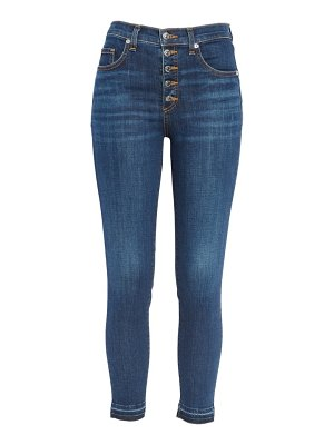Veronica Beard debbie frayed crop skinny jeans