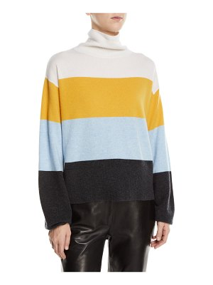 Veronica Beard Faber Cashmere Turtleneck Colorblock Sweater