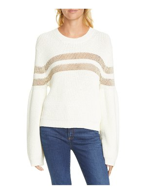 Veronica Beard georgiana metallic stripe sweater