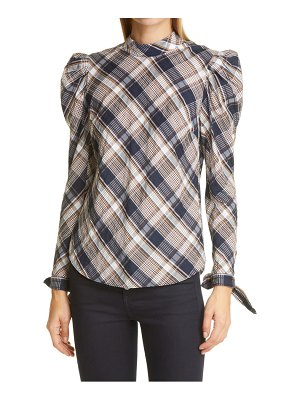 Veronica Beard isabel plaid long sleeve top