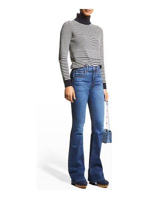 Veronica Beard Jeans Beverly High-Rise Skinny Flare Jeans