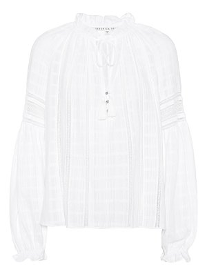Veronica Beard kalina cotton gauze blouse