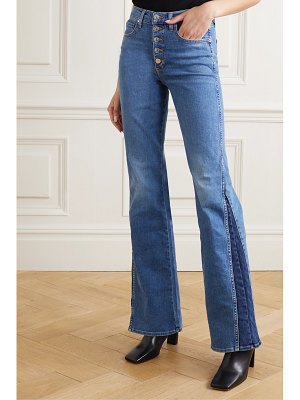 Veronica Beard kiley two-tone high-rise flared jeans