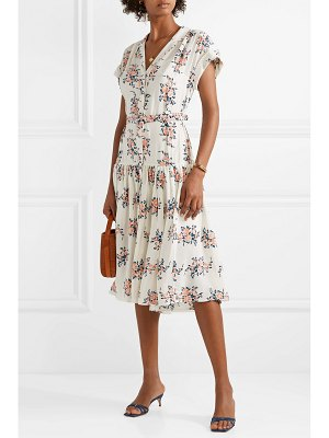 Veronica Beard meagan floral-print silk crepe de chine midi dress