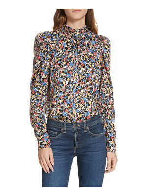 Veronica Beard mena floral stretch silk top