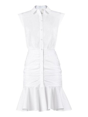 Veronica Beard ruched flounce-hem shirtdress
