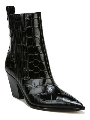 Veronica Beard Sanai Mock-Croc Ankle Booties
