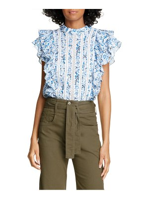 Veronica Beard sol floral ruffle top
