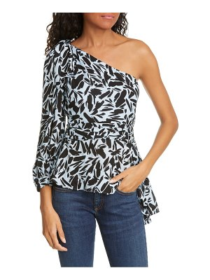 Veronica Beard vida one shoulder silk blend top