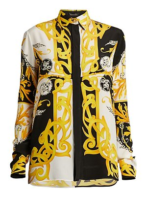 VERSACE acanthus silk button-down shirt