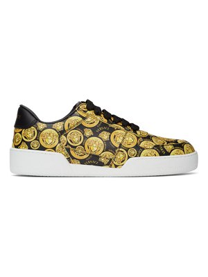 VERSACE black and yellow medusa amplified ilus sneakers