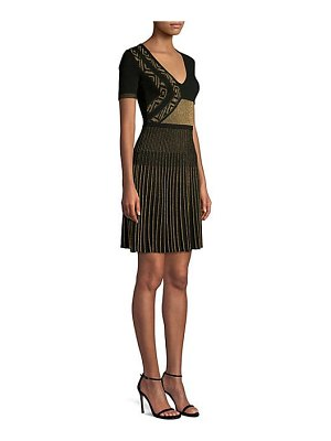 Versace Collection knit metallic fit-&-flare dress