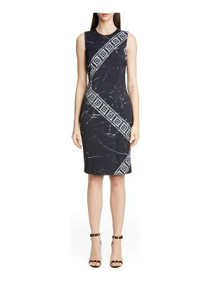 Versace Collection marble print pencil dress