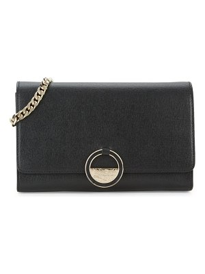 Versace Collection Textured Leather Crossbody Bag