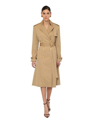 VERSACE Cotton canvas trench coat