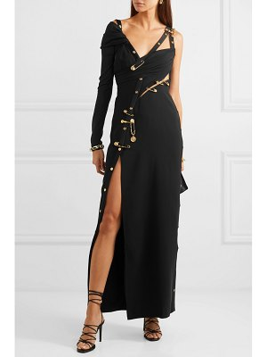 VERSACE embellished cutout crepe, silk-chiffon and tulle gown