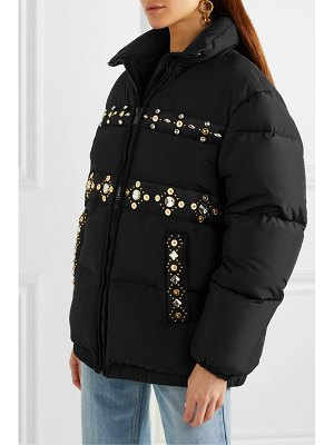 VERSACE embellished quilted shell down coat
