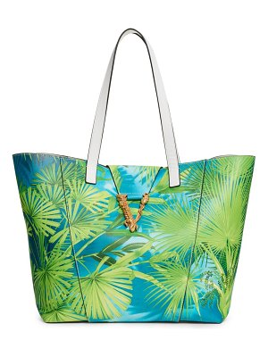 VERSACE FIRST LINE st. palm leather tote