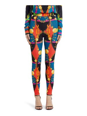 VERSACE FIRST LINE versace barocco rodeo print leggings