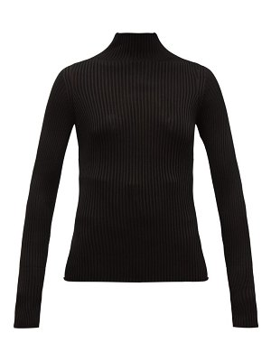 VERSACE high neck ribbed sweater
