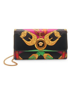 VERSACE icon rodeo night-print leather clutch