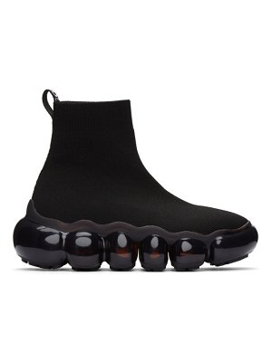 VERSACE JEANS COUTURE black bubble high-top sneakers