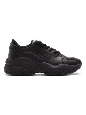 VERSACE JEANS COUTURE black chunky sole sneakers