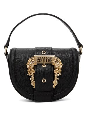 VERSACE JEANS COUTURE black round buckle bag