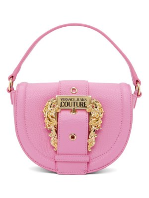 VERSACE JEANS COUTURE pink round buckle bag