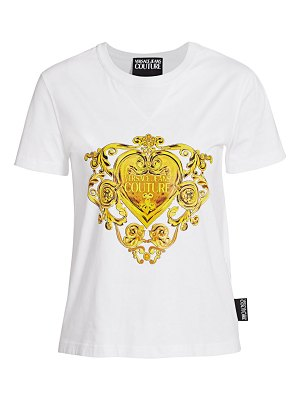 VERSACE JEANS COUTURE printed jersey t-shirt