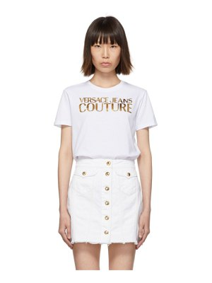 VERSACE JEANS COUTURE white logo t-shirt