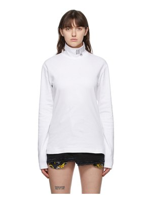 VERSACE JEANS COUTURE white logo turtleneck