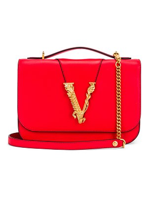 VERSACE leather tribute crossbody bag