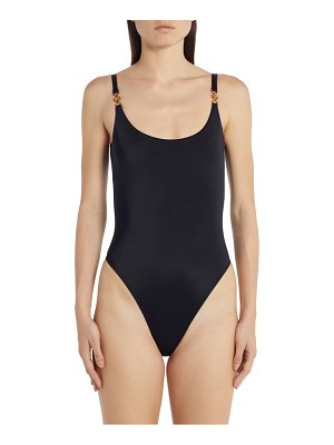 VERSACE link strap one-piece swimsuit
