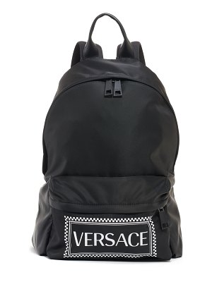 VERSACE logo nylon backpack