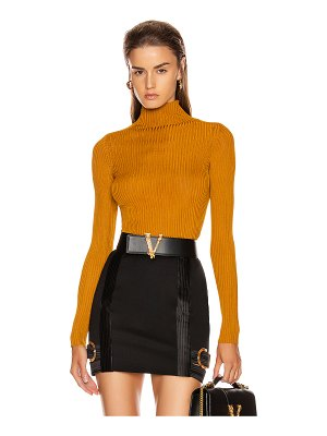 VERSACE long sleeve turtleneck top