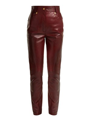 VERSACE medusa buttoned leather trousers