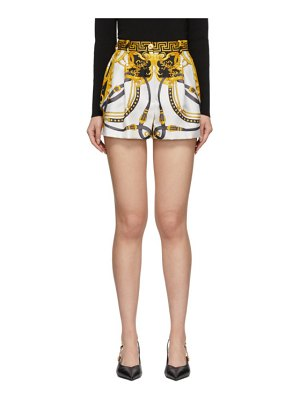 VERSACE multicolor silk barocco rodeo shorts