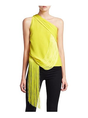 VERSACE one-shoulder fringe top