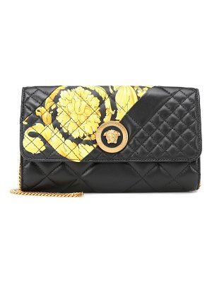 VERSACE printed quilted leather clutch