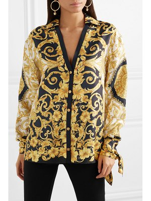 VERSACE printed silk-charmeuse blouse