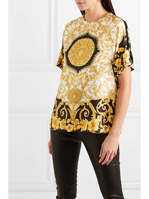 VERSACE printed silk-twill top