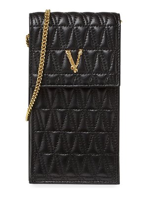 VERSACE Quilted Lamb Leather Crossbody Bag